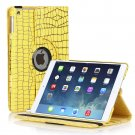 New Yellow Cracking Lines iPad Air 5 5th Gen Case Smart Cover Stand