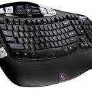 New Logitech Wireless Keyboard K350  USB Unifying Receiver - Black 920-001996