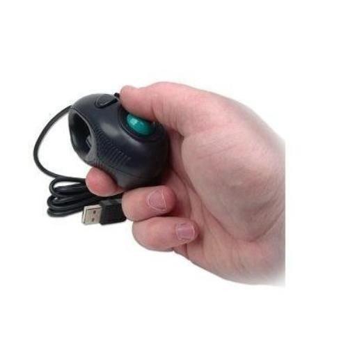 New USB One Hand Finger Trackball Mouse PC Laptop Netbook