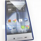 Blue Rubberized Hard Snap-On Case Cover for Sharp Aquos Crystal Phone