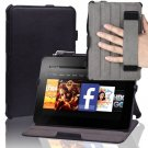 For Amazon Kindle Fire HD 7 2012 PU Leather Hand Strap Case Cover,Film Black