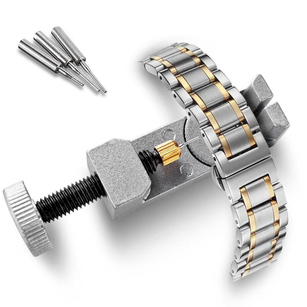 Metal Watch Band Bracelet Repair Tool Link Pin Remover Silver