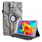 New Rotating PU Leather Smart Stand Case For Samsung Galaxy Tab 4 7.0 8.0 10.1