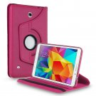 Rotating PU Leather Smart Stand Case For Samsung Galaxy Tab 4 7.0 8.0 10.1