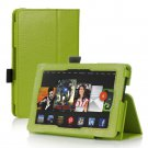 Green Leather Stand Hand Strap Case Cover For New HD 7 2nd Gen