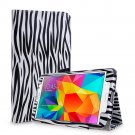 New Zebra Black Tablet Samsung Galaxy Tab 4 Folio Stand Smart Cover Case