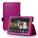 Hot Pink Leather Stand Hand Strap Case Cover For New HD 7 2nd Gen