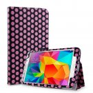 New Polka Dot Pink Tablet Samsung Galaxy Tab 4 Folio Stand Smart Cover Case