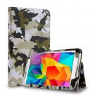 New Camouflage Green Tablet Samsung Galaxy Tab 4 Folio Stand Smart Cover Case
