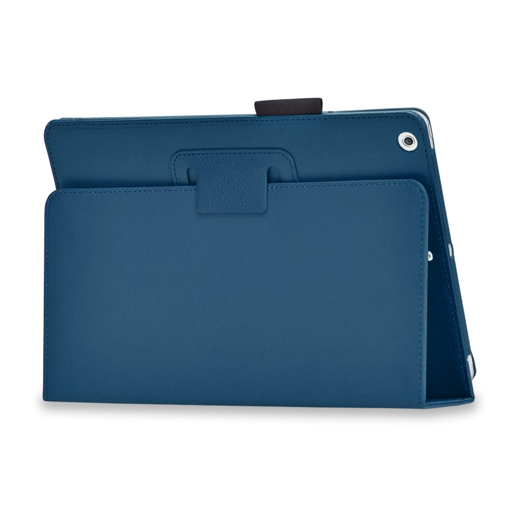 New Dark Blue Slim PU Leather Case Cover For Apple iPad 1 1st Generation