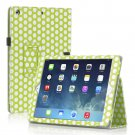 New Polka Dot Green Slim PU Leather Case Cover For Apple iPad 1 1st Gen