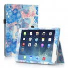 New Flower Blue Slim PU Leather Case Cover For Apple iPad 1 1st Gen