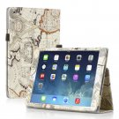New Map Beige Slim PU Leather Case Cover For Apple iPad 1 1st Gen
