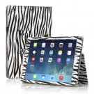 New Zebra Black Slim PU Leather Case Cover For Apple iPad 1 1st Gen