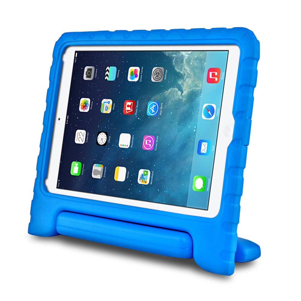 Blue Kids Safe Thick Protective Handle Stand Case For iPad Air Mini