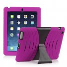 Pink Silicone Kickstand Case Cover for iPad Air 4 3 2 iPad Mini