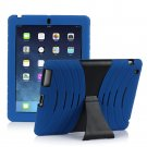 Blue Silicone Kickstand Case Cover for iPad Air 4 3 2 iPad Mini