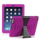 Pink Silicone Kickstand Case Cover for iPad Air 4 3 2 iPad Mini