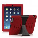 Red Silicone Kickstand Case Cover for iPad Air 4 3 2 iPad Mini