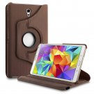 New Brown Samsung Galaxy Tab S 10.5 Tablet PU Leather Case Cover Stand