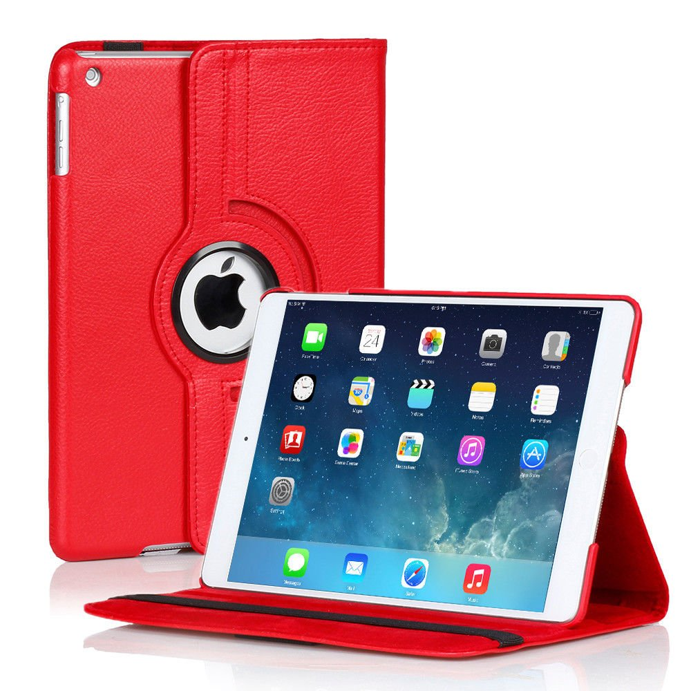 New Plain-Blue iPad Air 2 iPad Mini iPad 4 3 2 Case Smart Stand Cover