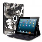 New Camouflage Black PU Leather Magnetic Case Cover For iPad 4 3 2 & Mini