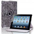 New Zebra Black PU Leather Magnetic Case Cover For iPad 4 3 2 & Mini