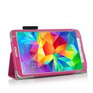 New Hot-Pink Samsung Galaxy Tab S 8.4 10.5 Folio Case Cover Stand