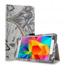 New Map-Beige Samsung Galaxy Tab S 8.4 10.5 Folio Case Cover Stand