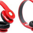 Two Pcs Red Bluetooth Headphone for Mobile Cell Phone Laptop Tablet