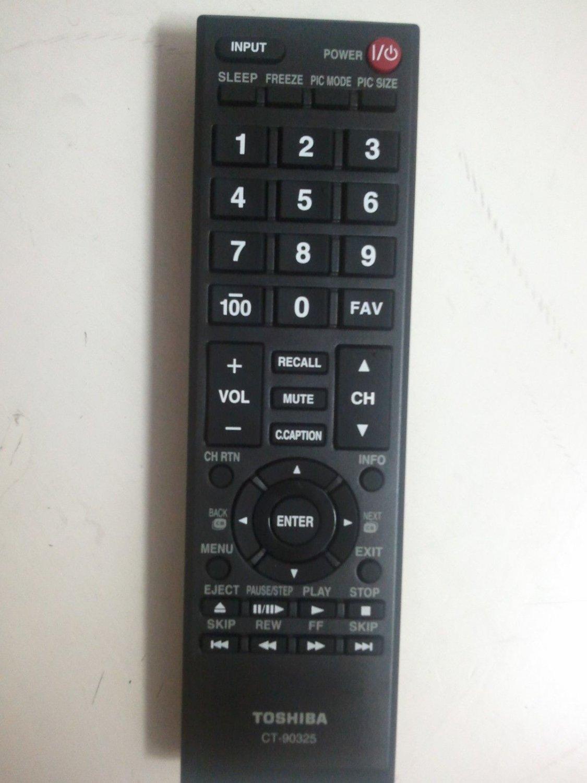 Toshiba TV Remote CT-90325 55HT1U 55S41U 55SL412U 65HT2U 46G310U 46SL41 55G310U