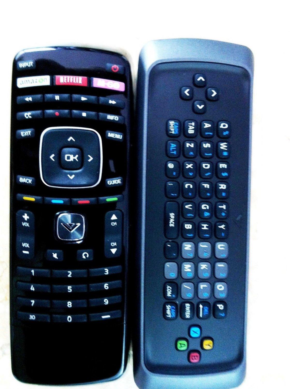 New VIZIO 3D smart TV Remote dual side keyboard with Netflix amazon M-GO 3D Key