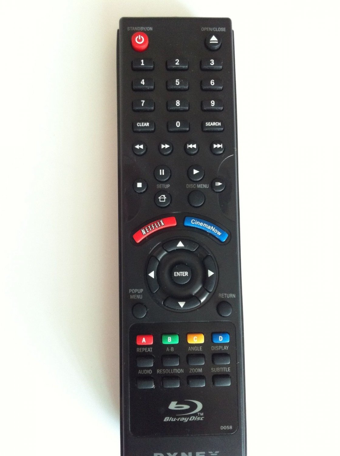 New D058 Remote fit for Insignia NS-BRDVD3  DVD