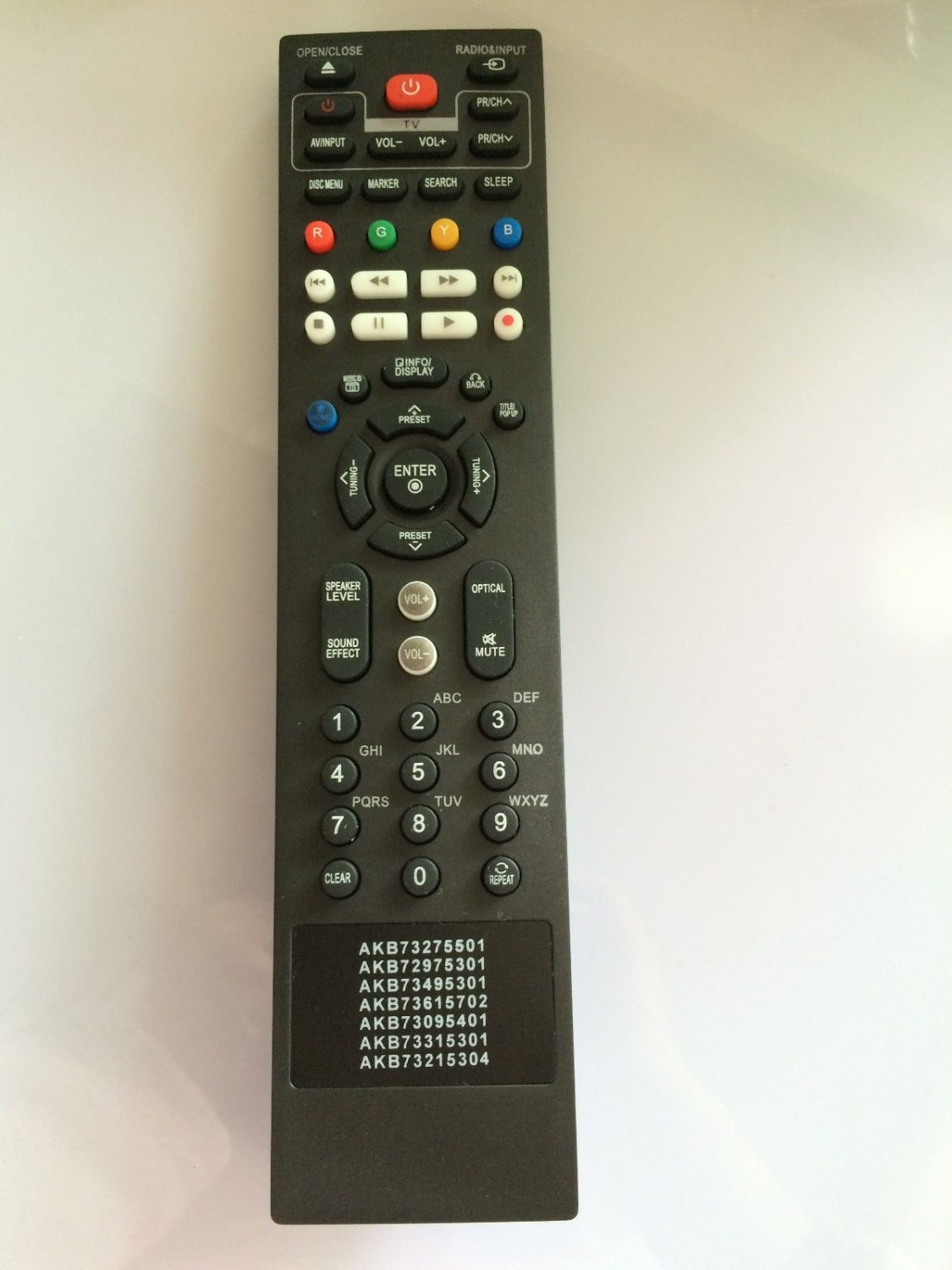 LG Disc DVD Home Theater 7in1 Remote AKB73495301 BD611 BD650 BD660