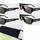New 4 Pairs Vizio Theater 3D Glass for M3D650SV M3D550SL M3D470KD M3D550KD M3D651SV