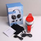 Red Stereo Wireless Foldable Bluetooth Headphones for Cell Phones LaptopTablet