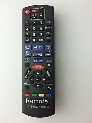 New Panasonic STREAMING PLAYER IR6 Remote N2QAYB000886 for DMP-MST60 DMP-MS10