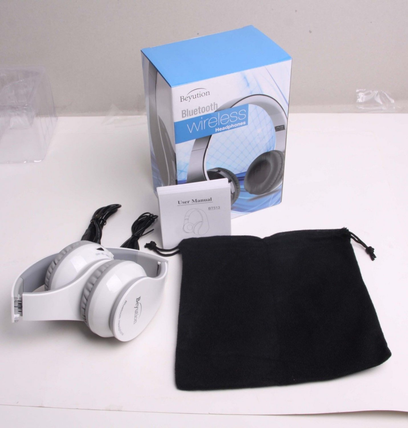 White513 Bluetooth Headphone fit for Samsung Galaxy phone tablet Apple iPhone