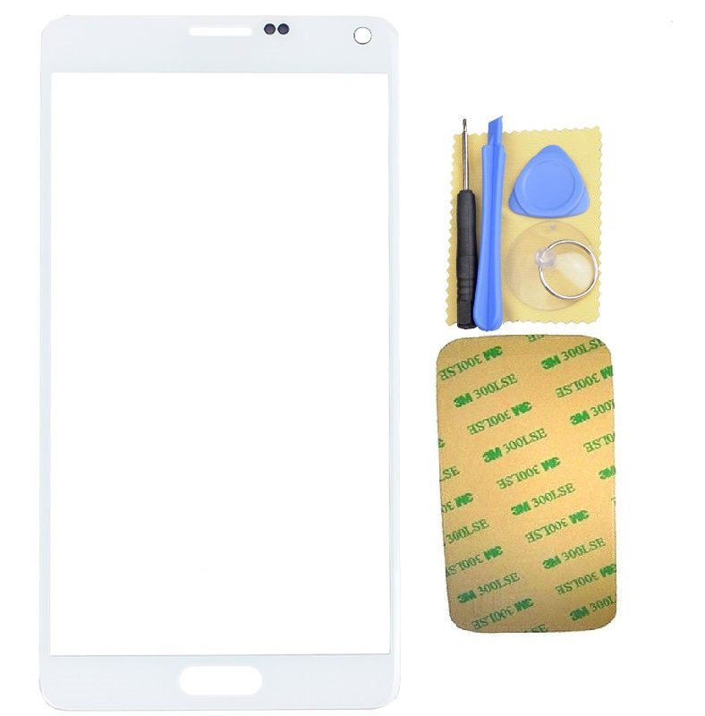 New OEM Samsung Galaxy Note 4 LCD Screen Glass Replacement w/Adhesive Tool White