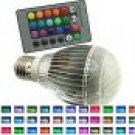 9W RGB E26 led bulb indoor lamp spot light 16 Color changing-IR Remote Control