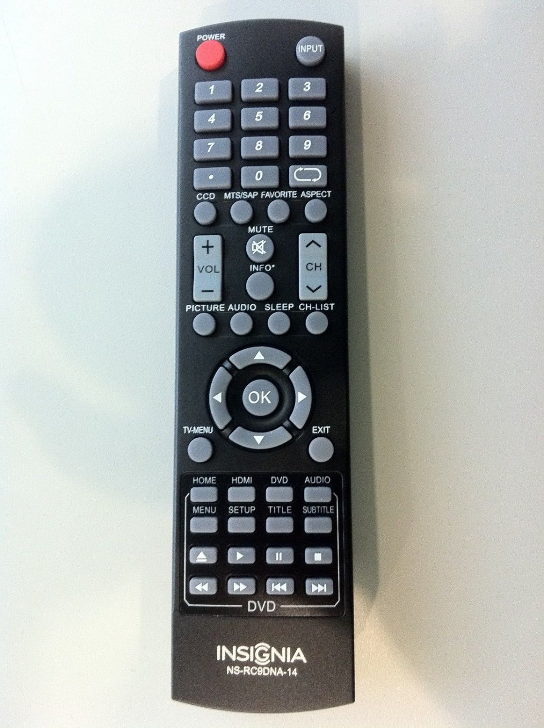 New Insignia combo TV Remote NS-RC9DNA-14 for NS-32DD200NA14 NS-32DD310NA15