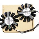 75mm Video Card Dual Fan MSI GTX 660 670 GTX680 R7850 R7870 R7950 Twin Frozr III