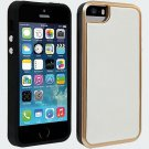 New Milk & Honey White Vegan Leather with Rose Gold Case for iPhone 5-5s