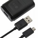 New LG L60 L60 Dual G3 Stylus Wall Charger + Micro USB Data Cable