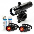 OxyLED LED USB Rechargeable Head light Flash Bicycle Bike Rear Tail Safety Lamp