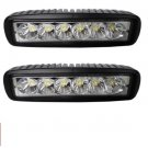 2 pcs 6 inch LED 18W Work Light Bar Spot Driving Lights Offroad 4WD Boat