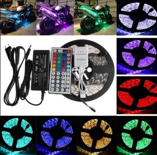 5m Smd Rgb 5050 Waterproof Strip Light 300led  44 Key Ir Remote 12v 5a Power