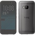 New HTC One M9 Dot View II 2 Ice Premium Clear Case Onxy Black Retro