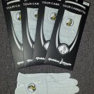 New 4 Pack Genuine Cabretta Leather Golden Eagle Golf Glove Mens Large Size