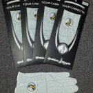 New 4 Pack Genuine Cabretta Leather Golden Eagle Golf Glove Ladies Large